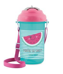 Sports mug with drinking straw-nozzle, 400ml, 'So Sweet!', pink